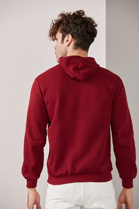 CATSPY Erkek Basic Kapüşonlu Örme Sweatshirt 0