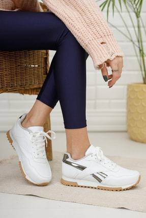 Moda Değirmeni Kadın Sneaker Md1053-101-0001 Beyaz-Platin 0