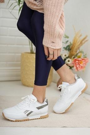 Moda Değirmeni Kadın Sneaker Md1053-101-0001 Beyaz-Platin 1