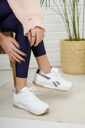Moda Değirmeni Kadın Sneaker Md1053-101-0001 Beyaz-Platin 2
