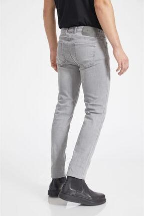 Avva Erkek Gri Slim Fit Jean Pantolon A02y3578 4