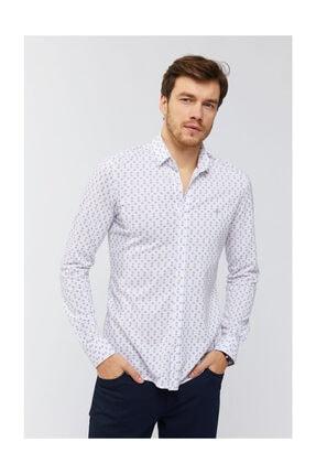 Avva Erkek Kırmızı Baskılı Klasik Yaka Slim Fit Gömlek A91y2138 1