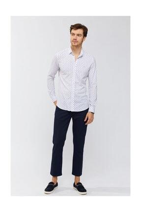 Avva Erkek Kırmızı Baskılı Klasik Yaka Slim Fit Gömlek A91y2138 3