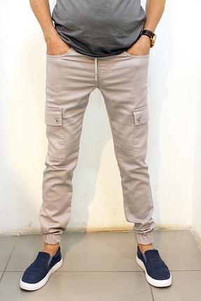 Twister Jeans Cold 9138 Gabardin Beli Ve Paçası Lastikli Kargo Pantolon Gri 1