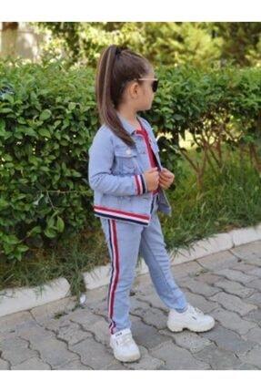 EFE KIDS Şeritli Kız Cocuk 3 Lü Kot Takım- Efe Kids 2