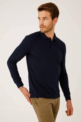 İgs Erkek Lacivert Standart Polo Yaka Sweatshirt 1