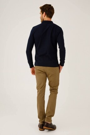 İgs Erkek Lacivert Standart Polo Yaka Sweatshirt 2