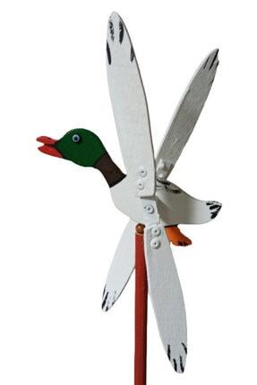 Rüzgaristan Yeşil Başlı Ördek Ahşap Rüzgar Gülü 2