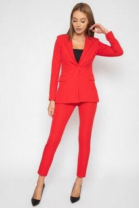 1DEN2YE Yandan Cepli Pantolon Kırmızı 1