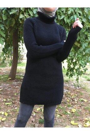Hatiç Store Kadın Siyah Renk Boğazlı Tesettür Triko Tunik & Kazak 1