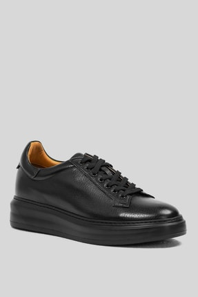 Lufian Plaın Deri Sneaker Siyah 1