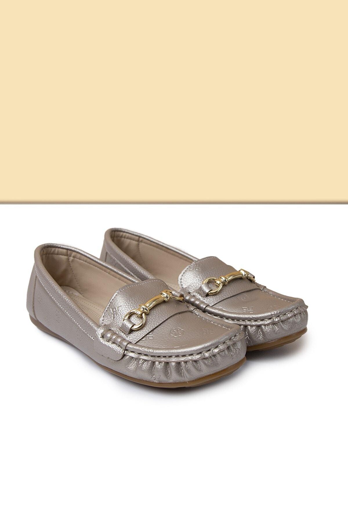 Pc-50696 Altın Kadın Ayakkabı