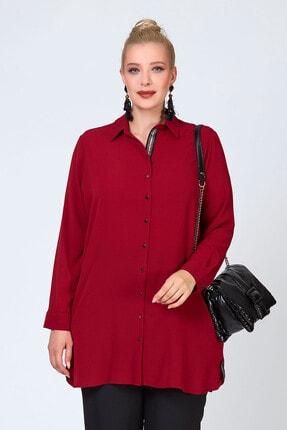 Büyük Moda Şeritli Tunik/gömlek 0