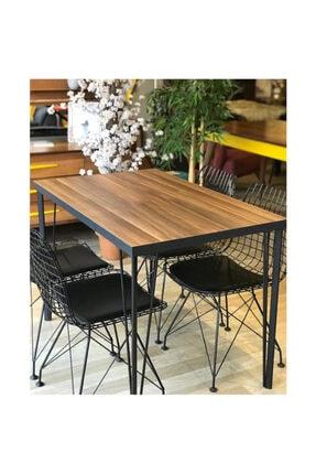 İlgi Trafik Yemek Masası, Salon Mutfak Masası, ''ceviz Desenli 120cm X 80cm Masa'' 0