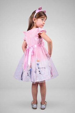Minik Dolap Kız Çocuk Pembe Tüllü Elsa Elbise 2