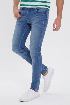 Picture of Erkek Buz Mavisi Renkli Slim Fit Jean