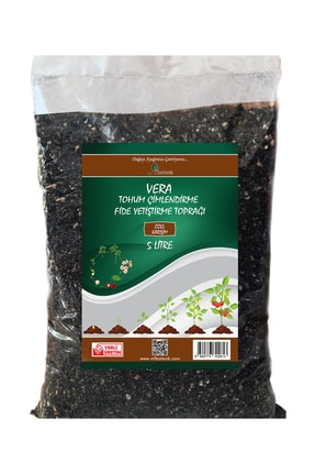 MF Botanik Fide Yetiştirme Toprağı 5 Litre Tohum Çimlendirme Harcı Cocopeat, Perlit, Solucan Gübresi Karışımlı 0