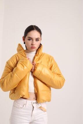 Kokosh Fashion Şişme Kısa Mont Sarı 1