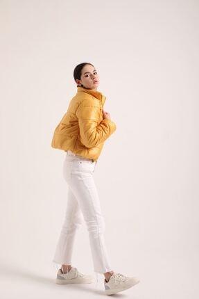 Kokosh Fashion Şişme Kısa Mont Sarı 3