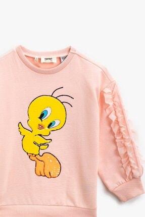 Koton Kız Çocuk Pamuklu Bugs Bunny Lisanslı Baskılı Pembe Sweatshirt 1kkg17317ak 1