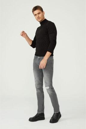 Avva Erkek Gri Slim Fit Jean Pantolon A02y3599 2