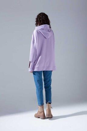 Mizalle Youth Neon Karyoka Sweatshirt (Lila) 3