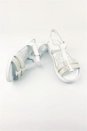 Deripabuc Hakiki Deri Beyaz Kadın Deri Sandalet Dp05-s010 4