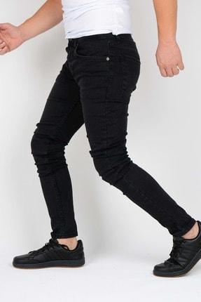 Edwox Erkek Siyah Slim Fit Jean Kot Pantolon 2112 1