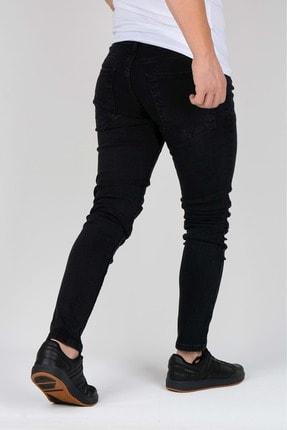 Edwox Erkek Siyah Slim Fit Jean Kot Pantolon 2112 2