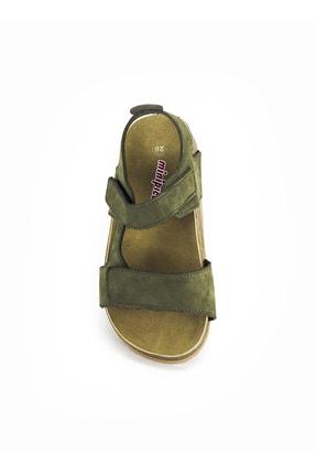 Minipicco Erkek Çocuk Haki Deri Ortopedik Sandalet 3