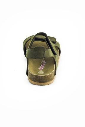 Minipicco Erkek Çocuk Haki Deri Ortopedik Sandalet 4
