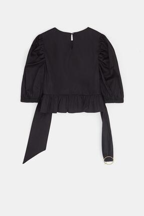 Tyess Kız Çocuk Siyah Bluz 20pfwtj4602 2