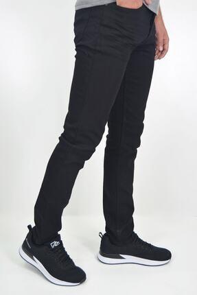 ds danlıspor Erkek Siyah Likralı Hafif Çizgili Kot Pantolon 2