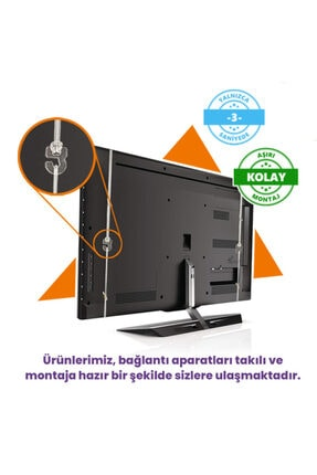 BESTOCLASS Elmas Panel Vestel 50ua9600 Uyumlu Tv Ekran Koruyucu 2