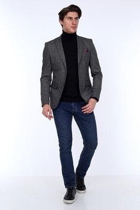 Zen Zen Zenzen Antrasit Kareli Erkek Blazer Ceket Slım Fıt 01231 3