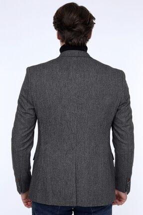 Zen Zen Zenzen Antrasit Kareli Erkek Blazer Ceket Slım Fıt 01231 4