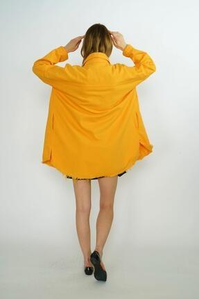 HerTon Etek Ucu Detaylı Çıtçıtlı Uzun Kot Ceket 18-66-028 2
