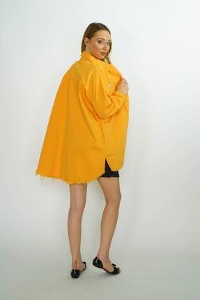 HerTon Etek Ucu Detaylı Çıtçıtlı Uzun Kot Ceket 18-66-028 3
