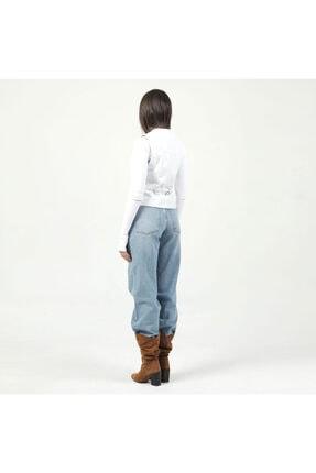 Dericlub 001 Beyaz Kadın Deri Yelek 4