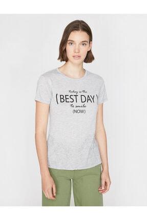 Koton Yazili Baskili T-shirt 2