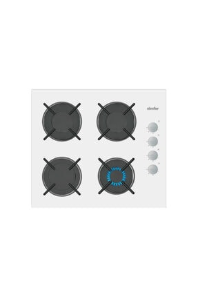 Simfer Kardelen Beyaz Dijital Ankastre Cam Set (3507 - 8668 - 7340) 1