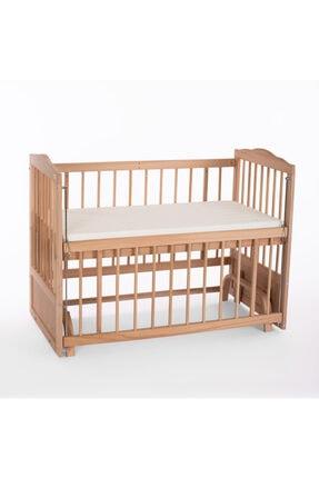 Heyner Ahşap Beşik Anne Yanı Beşik Sallanır Beşik Organik 60x120 + Krem Prenses ( Kız ) Uyku Seti + Yatak 2