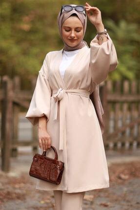 Moda Sahra Balon Kol Kuşaklı Tesettür Takım 2