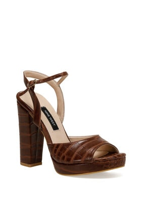 Nine West CENDO Kahverengi Kadın Topuklu Sandalet 100526405 2