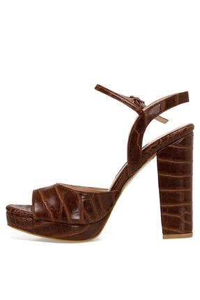Nine West CENDO Kahverengi Kadın Topuklu Sandalet 100526405 4