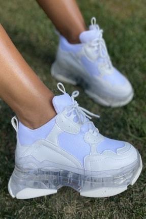İnan Ayakkabı Bayan Şeffaf Taban Spor Ayakkabı 0