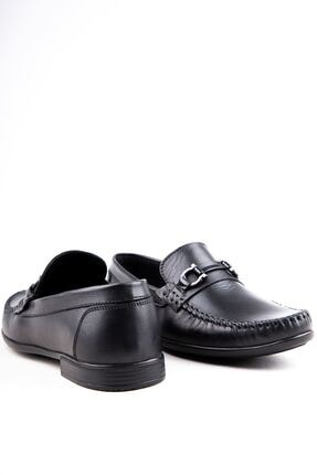 Milano Brava Hakiki Deri Günlük Loafer Erkek Ayakkabı Hsm904 Siyah 3