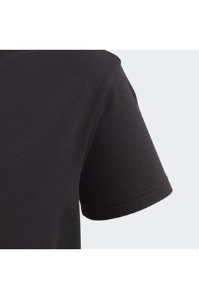 adidas Unisex  Çocuk Siyah Fm5641 Bıg Trefoıl Tee  Spor T-Shirt 2