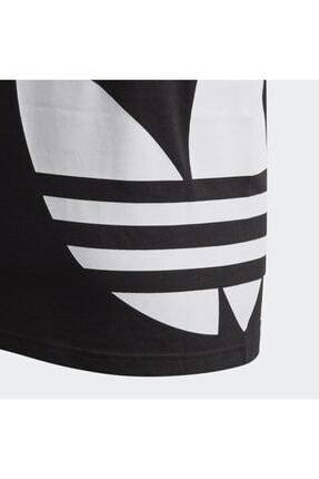 adidas Unisex  Çocuk Siyah Fm5641 Bıg Trefoıl Tee  Spor T-Shirt 4