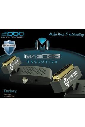 MAGBOX Exclusive Scart Girişli Tüplü Tv Uyumlu Mini Uydu Alıcısı 1